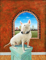Bull Terrier before Window, Dog Portraits, 2015 _ Timothy Vermeulen