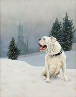 Bulldog in Winter, Dog Portraits, 2014 _ Timothy Vermeulen