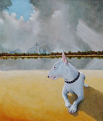 Landscape with Bull Terrier, Dog Portraits, 2013 _ Timothy Vermeulen