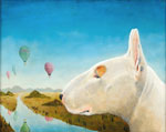 Landscape with Bull Terrier II, Dog Portraits, 2015 _ Timothy Vermeulen