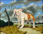 Landscape with Bulldog III, Dog Portraits, 2015 _ Timothy Vermeulen